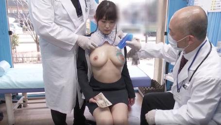 就活中のHカップ女子大生に無料健康診断と称して爆乳をオモチャにするセクハラ診察をかます!