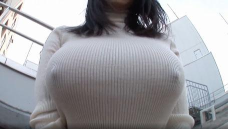クビレボインのIカップ爆乳女子がエロ過ぎるノーブラ着衣デートで乳首ピンコ勃ち