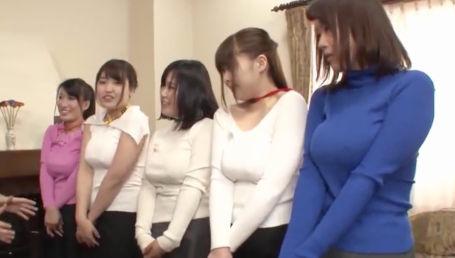 Gカップ以上の巨乳女子社員との王様ゲームでエロ命令が止まらず大乱交に発展
