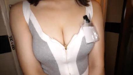 ランジェリーショップ店員のFカップ巨乳ハーフギャルとのハメ動画