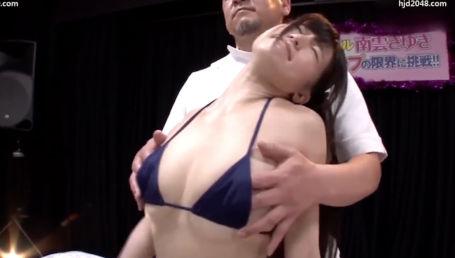 24時間耐久バストマッサージという企画でおっぱい乳首をひたすら弄られ悶絶する巨乳グラドル