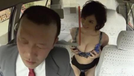 お代は身体で払います?スタイル抜群のHカップ痴女がタクシー運転手を誘惑!