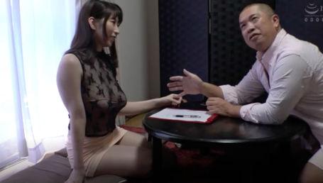 仕事欲しさにAVの面接で痴女全開で肉体接待をするIカップロケット爆乳女優