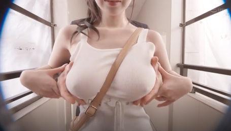 変態夫の命令でノーパンノーブラにマキシワンピ一枚で生活しているGカップ若妻!乳首ポッチと揺れる生乳に興奮した男たちにヤラれまくってしまう