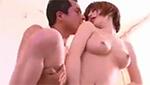立ちバックで絡み合うようにセックスするスレンダー美巨乳美女がエロい!