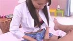 おっぱいチラ見えしちゃうミニ制服がエッチな女子校生がアナルをペニバンでイジメちゃう!