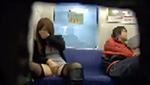 巨乳ギャルに電車内オナニーさせて様子を撮ってみた