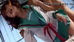 ハ○ヒ風セーラー服コスプレの巨乳娘を激しい着衣ファック!