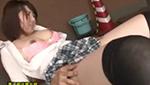 巨乳女子校生のミニスカふとももに欲情したオジサンに犯される!